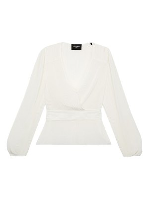 The Kooples pleated faux-wrap blouse