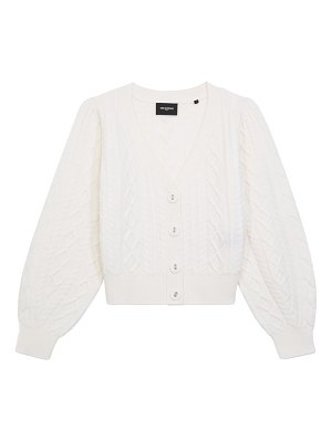 The Kooples puff-sleeve button-up cardigan