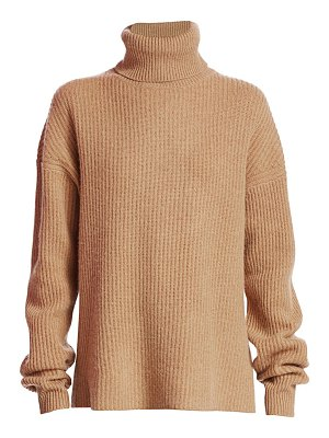 The Kooples ribbed wool & cashmere turtleneck sweater