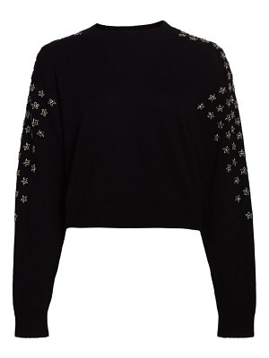 The Kooples star print wool-cashmere sweater