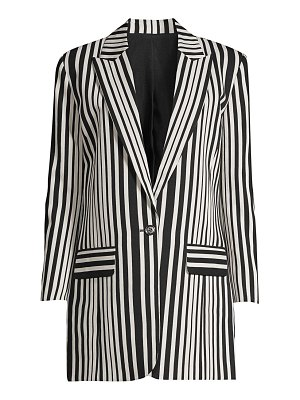 The Kooples stripe single-breasted blazer