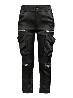 The Kooples zippered satin cargo pants