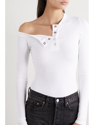 The Line By K harley off-the-shoulder ribbed jersey top