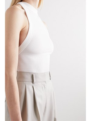 The Line By K ximeno open-back ribbed stretch-jersey top