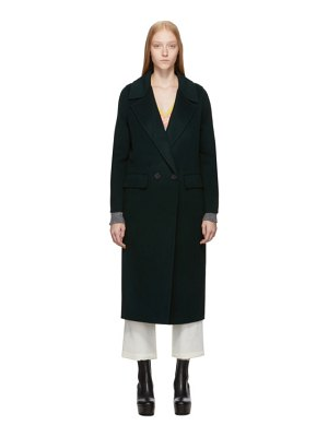 The Loom green wool double coat