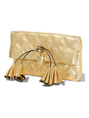 The Marc Jacobs the metallic leather clutch