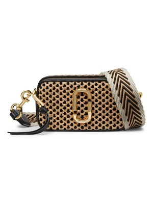 Marc Jacobs the snapshot woven leather & straw camera bag