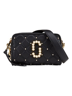 The Marc Jacobs The Softshot 21 Quilted Pearly Crossbody Bag