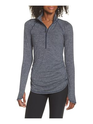 The North Face motivation stripe half zip top
