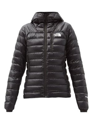 The North Face summit quilted down hooded jacket