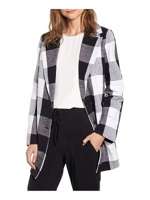 THE ODELLS artist buffalo plaid cotton coat