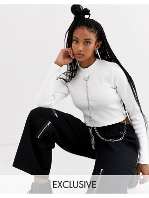 The Ragged Priest crop top with chain detail