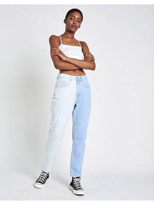 The Ragged Priest mom jeans in half and half denim-blue