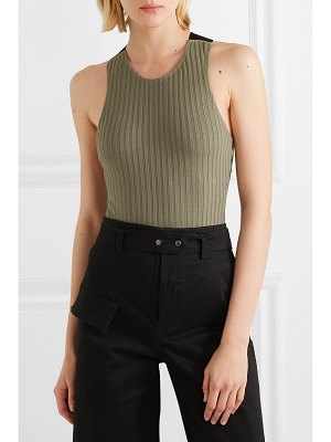 The Range canvas-trimmed ribbed-knit bodysuit