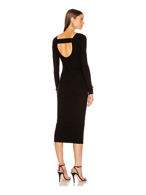 The Range framed rib banded midi dress