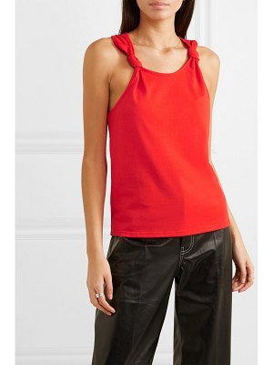 The Range knotted cotton-jersey tank