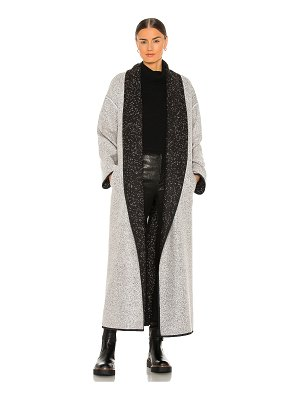 The Range static flannel reversible duster coat