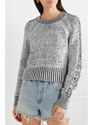 The Range storm cropped cotton sweater