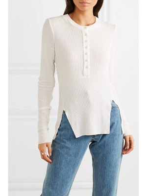 The Range waffle-knit jersey top