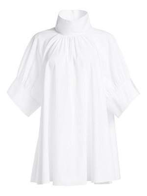 THE ROW abel stand collar elbow-sleeve tunic