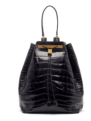 THE ROW Alligator Drawstring Backpack