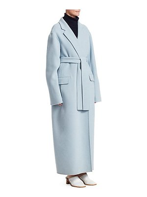 THE ROW amoy cashmere & virgin wool wrap coat