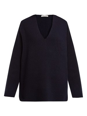 THE ROW angela v-neck wool-blend sweater