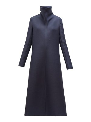 THE ROW barbara high neck a line wool blend midi dress