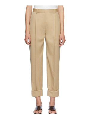 THE ROW beige marta trousers
