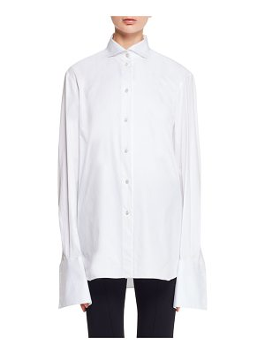 THE ROW Betta Button-Front Stretch-Poplin Shirt