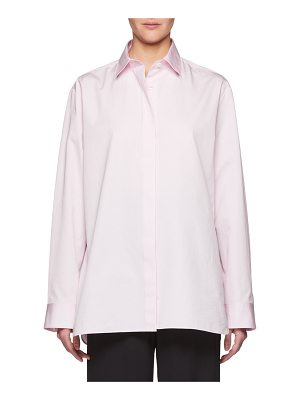 THE ROW Big Sisea Button-Front Long-Sleeve Cotton Oxford Shirt