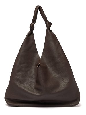THE ROW bindle grained leather tote bag