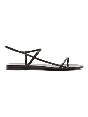 THE ROW black bare flat sandals