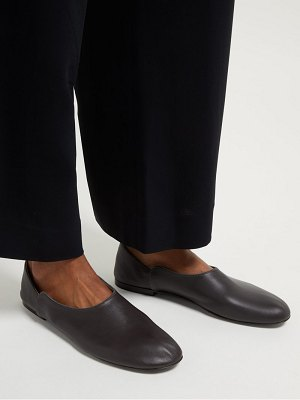 THE ROW boheme leather loafers