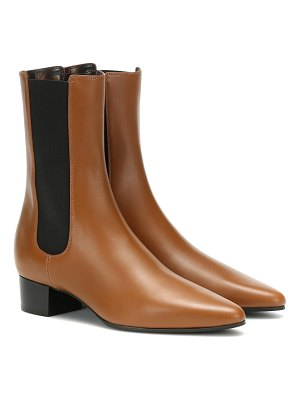 THE ROW british leather ankle boots