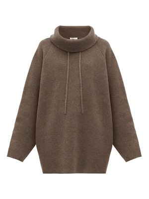 THE ROW carnia funnel-neck wool-blend sweater