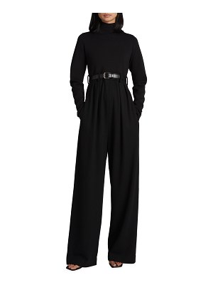 THE ROW Celeste Solid Wool Knit Long-Sleeve Jumpsuit