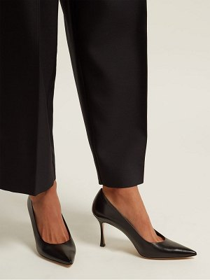 THE ROW Champagne leather point-toe pumps