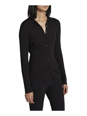 THE ROW Chicco Ribbed Button-Down Top