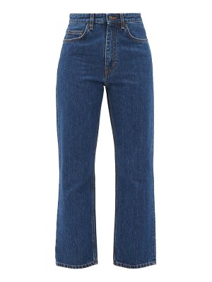 THE ROW christie mid-rise cropped straight-leg jeans