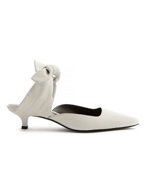 THE ROW coco leather kitten heel mules