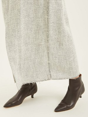 THE ROW coco point toe leather ankle boots