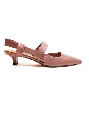 THE ROW Coco Twist leather sling-back pumps
