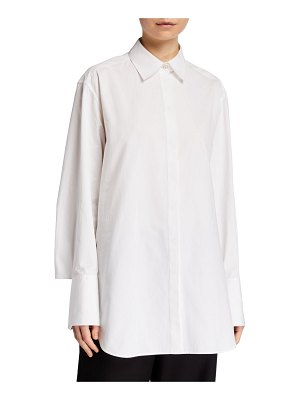 THE ROW Cody Cotton Button-Front Shirt