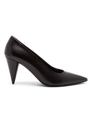 THE ROW Cone Heel Leather Pumps