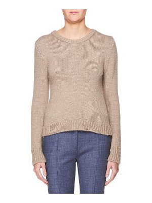 THE ROW Crewneck Long-Sleeve Cashmere Sweater