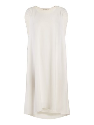 THE ROW dada ruched-shoulder cady dress