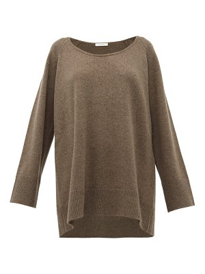 THE ROW damian scoop-neck wool-blend sweater