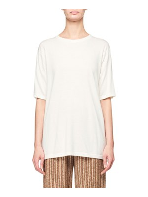 THE ROW Darcia Wool-Cashmere Tee