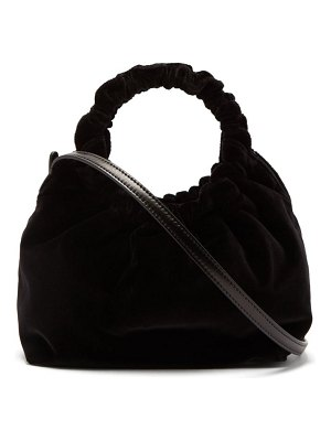 THE ROW double circle small velvet bag